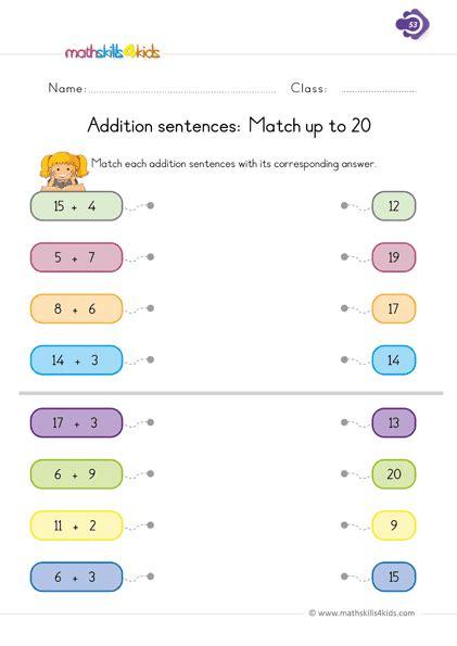 addition worksheets  grade   st grade basic