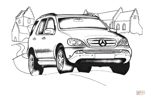 Mercedes amg glc 43 4matic coupé. Mercedes Benz M Class coloring page | Free Printable Coloring Pages