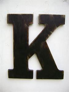large wood letter k shabby chic wall hanging decor 18 With big wooden letter k