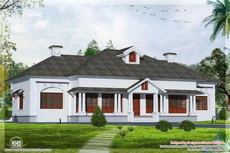 house pla single floor 4 bedroom style villa kerala