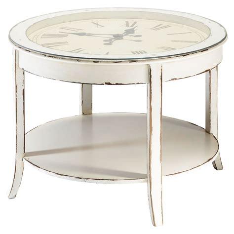 lade da comodino per bambini tavolo basso rotondo bianco in vetro e legno anticato con