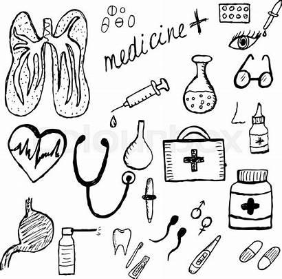 Medicina Drawing Schizzo Skizze Abbildung Sketch Vektor