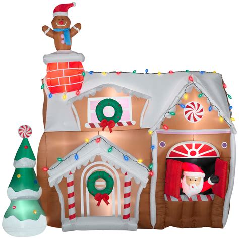 airblown inflatable christmas decorations photograph