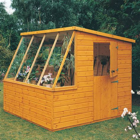 8x8 sheds 8x8 iceni pent shiplap wooden shed with assembly service