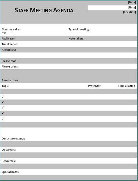 staff meeting agenda template pin sle staff meeting notice ajilbabcom portal on