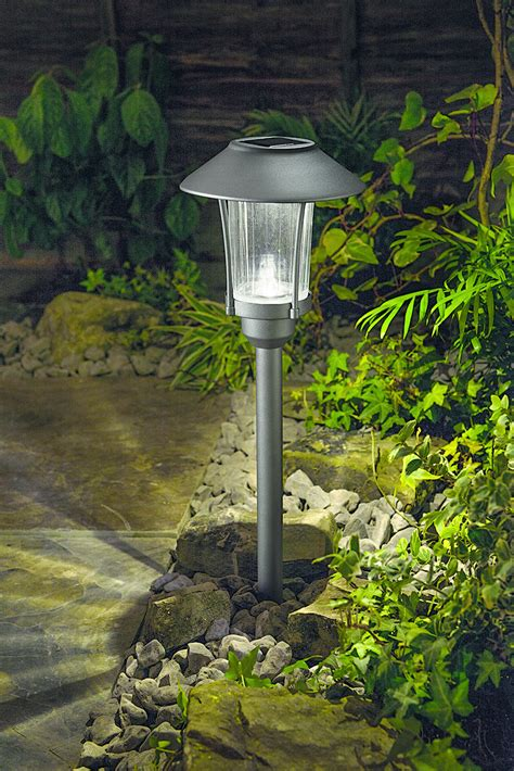 Cole & Bright Solar Garden Post Light, Bright White Led
