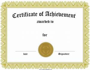 Free Certificate Template Free Customizable Certificate Of Achievement
