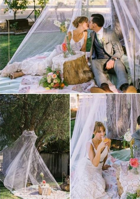 romantic wedding picnic ideas weddingomania