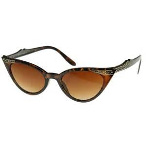 cat eye sunglasses vintage inspired mod womens fashion rhinestone cat eye