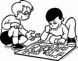 Coloring Pages Board Games Singing Children London Getdrawings Printable Getcolorings Funny Tic Tac Toe Colorings sketch template