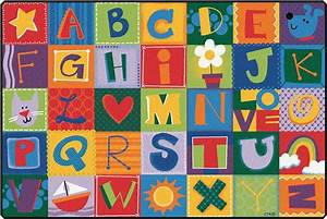 Toddler alphabet blocks rug alphabet area rug for kids for Abc classroom carpet