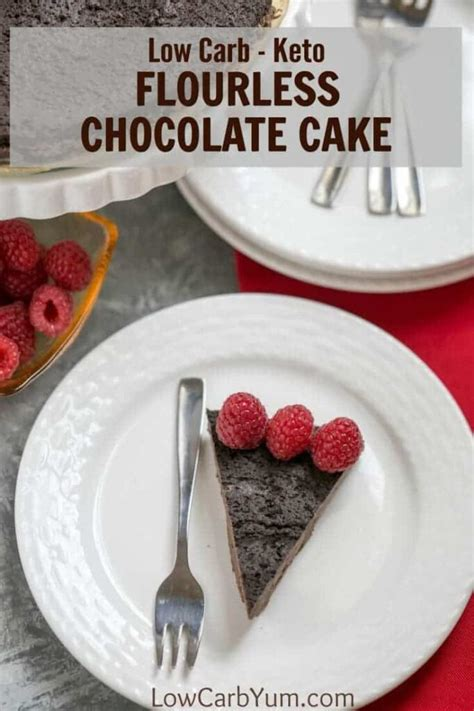 This recipe is filled with ooey gooey cookie deliciousness. Keto Flourless Chocolate Cake - Gluten Free | Low Carb Yum