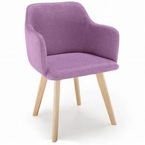 Chaise Tissu Design : chaise scandinave design tissu violet pas cher scandinave deco ~ Teatrodelosmanantiales.com Idées de Décoration