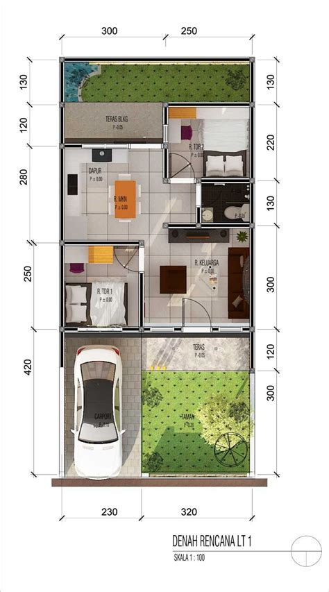 denah rumah type  terbaru berikut model desain