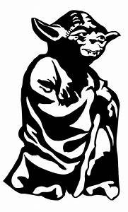 Yoda life size stencil for kids room | I made this ...
