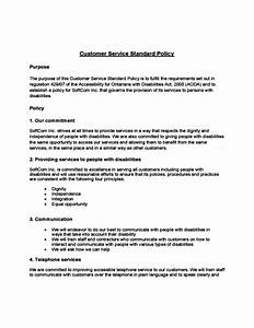 comfortable customer service policy template gallery With aoda policy template