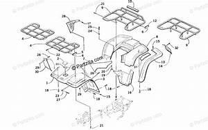 Arctic Cat Atv 2001 Oem Parts Diagram For Body Panel