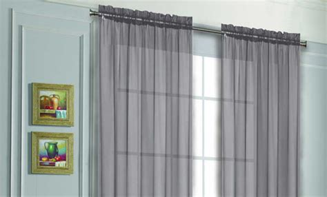 Silver Sheer Curtains Walmart by Voile Sheer Curtain Panels