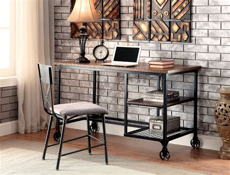 chaise industrielle metal furniture of america stecker industrial metal frame desk