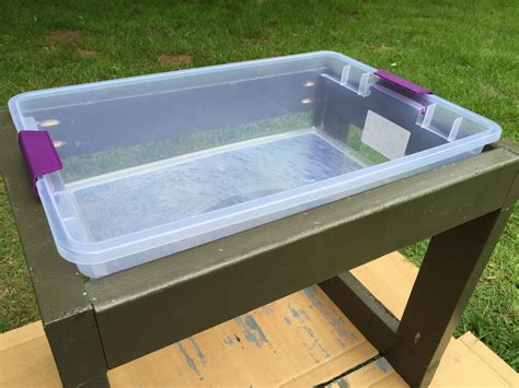 how to sand a table learn how to build a 39 s water table how tos diy