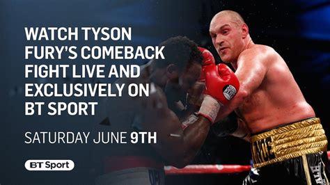 tyson fury faces seferi  june  comeback fight boxing news
