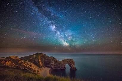 Milky Way Durdle Door Stars Above Coast