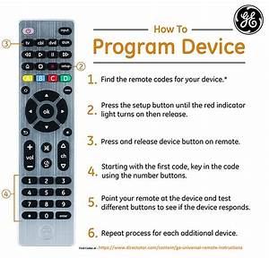 Ge Universal Remote Codes With Program Instructions