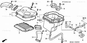 Honda Motorcycle 2003 Oem Parts Diagram For Air Cleaner