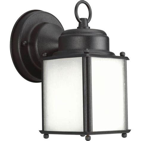 thomas lighting 2 light black outdoor wall spot