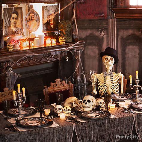 haunted house gauzy dinner table idea city