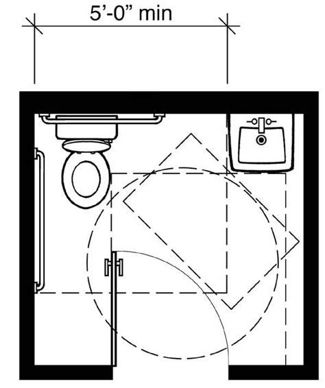 plan 2b 2010 standards minimum with in swinging door z alf ada bathroom handicap bathroom