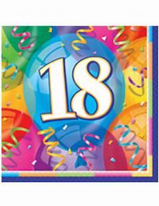 Anniversaire 18 Ans Deco : 16 serviettes en papier joyeux anniversaire 18 ans 33 x 33 cm d coration anniversaire et f tes ~ Preciouscoupons.com Idées de Décoration