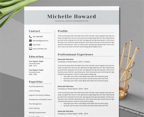 This document may resemble a resume, but is more comprehensive and typically used when applying for positions within academic institutions or areas where field specific. Modern CV Template Word, Curriculum Vitae, Professional CV ...