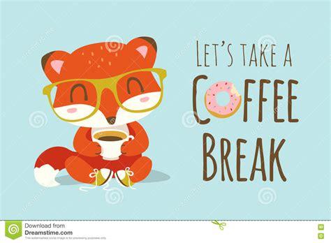 Coffee Break Cartoon Fox Illustration Stock Illustration Coolest Coffee Mugs For Sale Latte Origin Dunkin House Size Chai Recipe In A Mug Personalised Glass