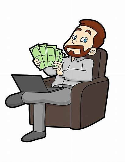 Money Cartoon Counting Guy He Svg Clipart