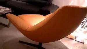 fauteuil en cuir design pied pivotant allen youtube With fauteuil pivotant cuir design