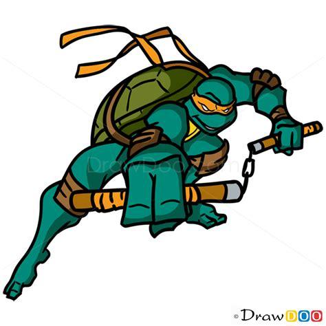 How Draw Michelangelo Ninja Turtles