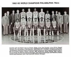 Philadelphia-76ers-1982-83-NBA-Champions-8x10-B-W-Team-Photo