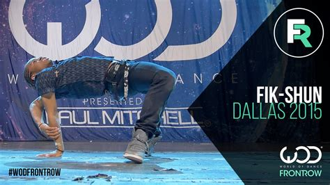 Fikshun  Frontrow  World Of Dance Dallas 2015