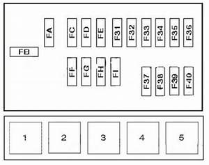 Nissan Navara  1997 - 2004  - Fuse Box Diagram