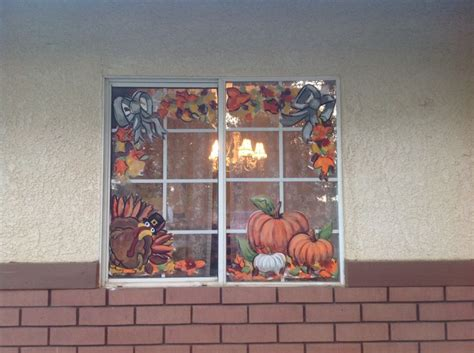 Fenster Bemalen Herbst by Thanksgiving Fall Windows It Window Painting