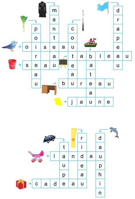 tr駱ied bureau mots fléchés faciles pour enfants apprendre à lire