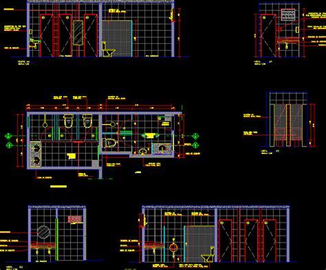 bathrooms details dwg full project  autocad designs cad