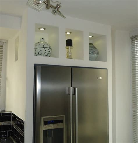 frigo americain dans cuisine equipee encastrer réfrigérateur américain