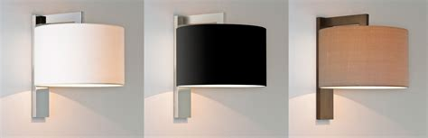 astro ravello indoor wall lights fabric drum shade 60w e27