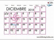 Calendario Mes De Diciembre 2018