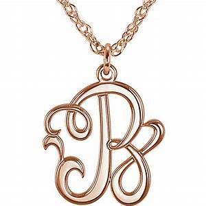 monogram jewelry With script letter necklace
