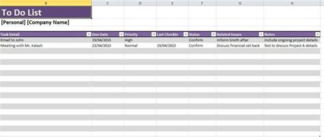 daily task list template excel spreadsheet excel