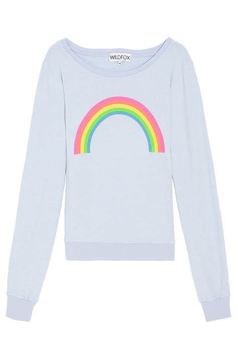 wildfox rainbow beach bum sweater  gray lyst