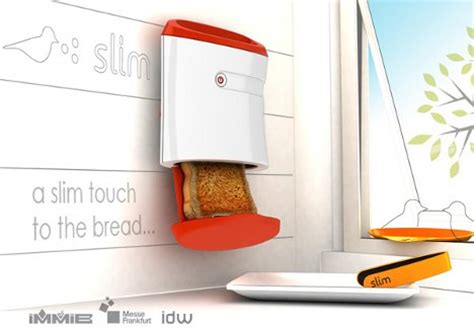 Slim Toaster 2 Slice by Thin Is In Wall Mounted Toaster For Spacious Breakfasts